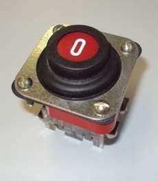 Botão com proteção sem trava (marca: Blindex)