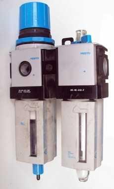 marca: Festo modelo: LFRM2G12E10R (filtro regulador) + LOEM2G12P (lubrificador) estado: usado