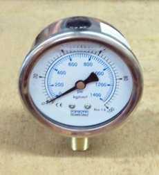 Manometro (escala: 1400PSI 100Kg/cm2)