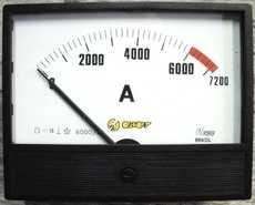 Amperímetro (escala: 7200AMP)