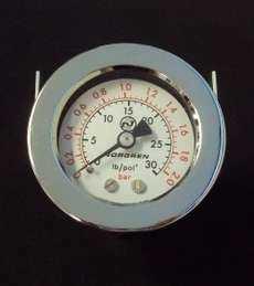 marca: Norgren escala: 30lb/pol2 2BAR diametro: 53mm para painel, saída por trás estado: seminovo