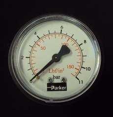 marca: Parker escala: 11BAR diametro: 65 mm saída: por trás estado: seminovo