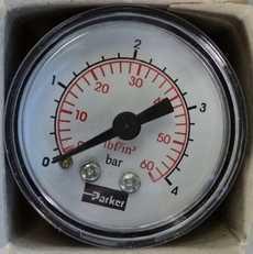 Manometro (escala: 60lbf/in2 4BAR)