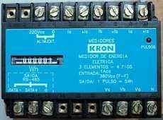 marca: Kron modelo: 3 elementos - 4 fios entrada: 380 VCA saída: 1 pulso = 5Wh estado: nunca foi utilizado, na caixa