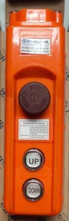 marca: JNG modelo: YQA161K, 2 botões + 1 botão de emergencia estado: nova, na caixa