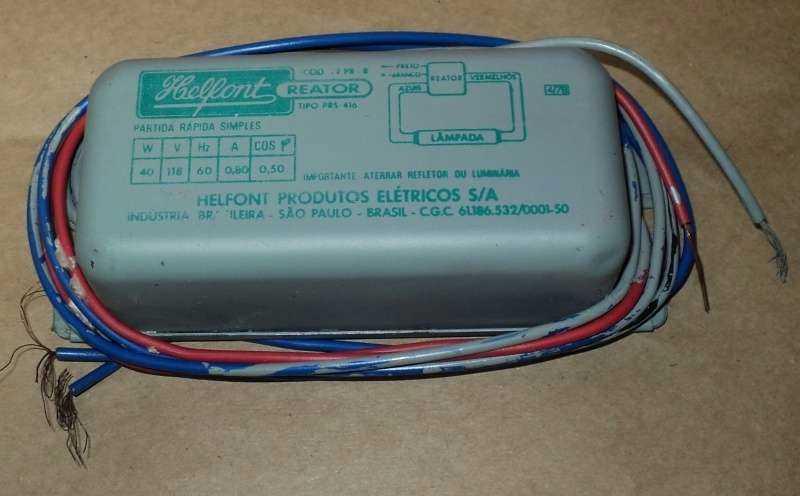 marca: Helfont <br/>modelo: PRS416 40W 118V 60Hz 0,8A <br/>estado: nunca foi utilizado, na embalagem