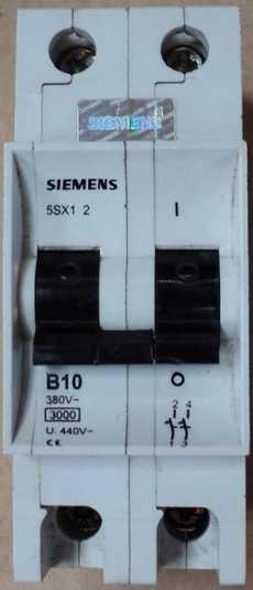 marca: Siemens modelo: 5SX12B10 380V 3000 U440V bipolar estado: usado