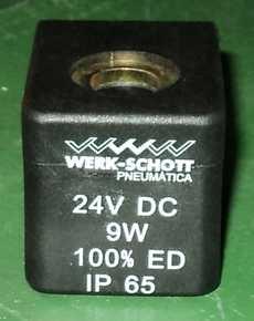 Bobina (modelo: 24VDC) para válvula pneumática