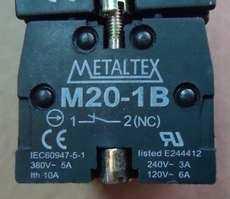 Bloco p/ botão (modelo: M201B12NC)