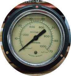 Manometro (escala: 1000lbf/pol2 70kgf/cm2)