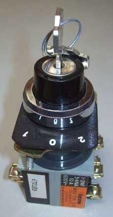 Chave seletora com chave (modelo: 67218D)