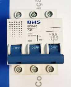 Disjuntor tripolar (modelo: BDP63 C40)